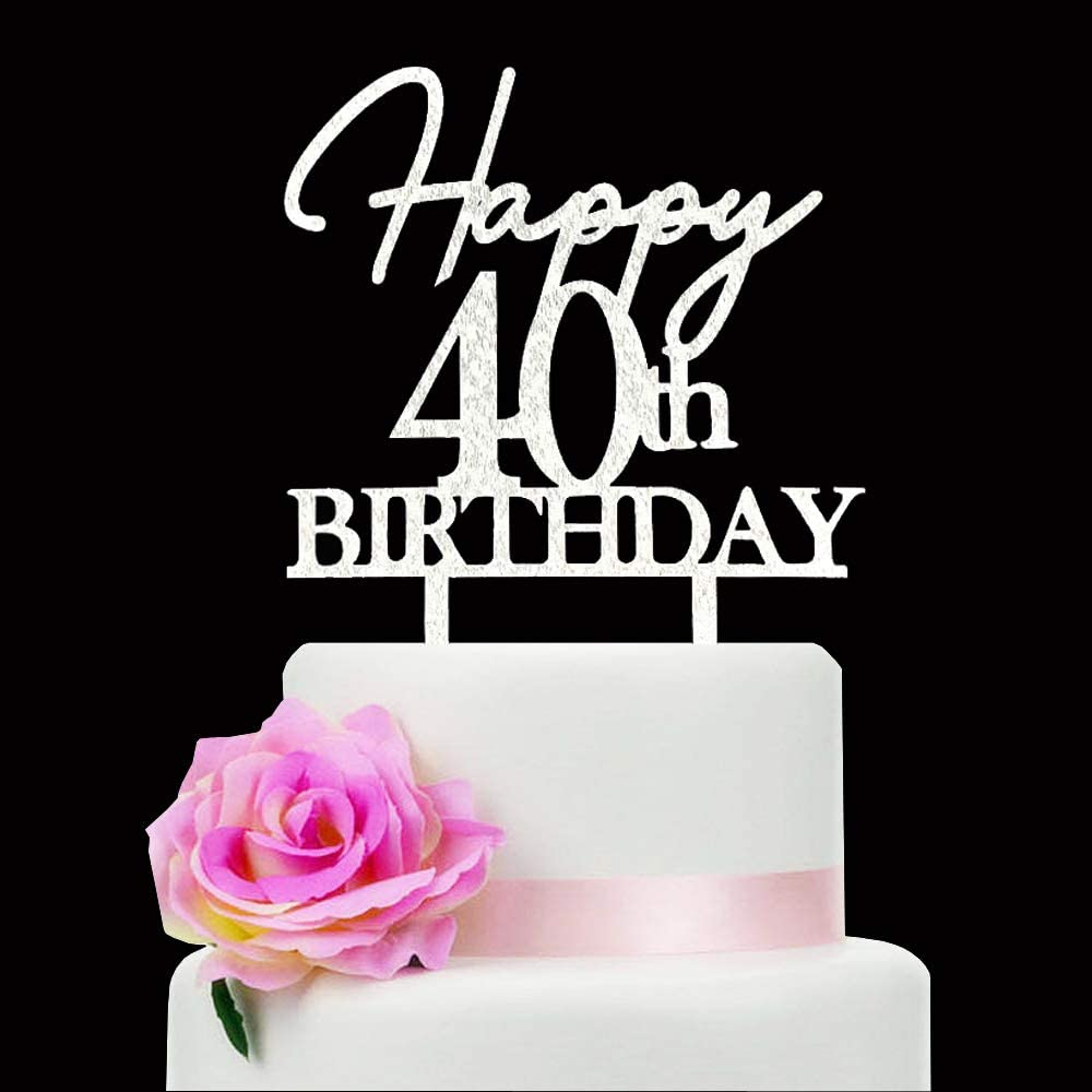40th birthday decorations 40th Cupcake Toppers 40th birthday Party Decor 40 picks Forty Cake topper Hello Forty cake topper