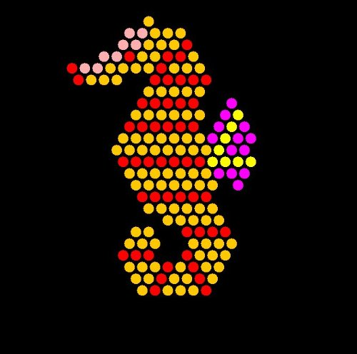 image regarding Printable Lite Brite Patterns identified as Lite Brite Refill Sheets (sq.) Lite Brites For Finding out