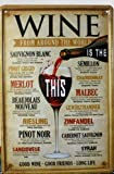 Vintage Style Wine Around the World Retro METAL Wall Poster Sign Plaque 30x20cm