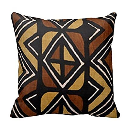 Amazon Com Atemperament 77rf Kenyan Mud Cloth Pillow Case