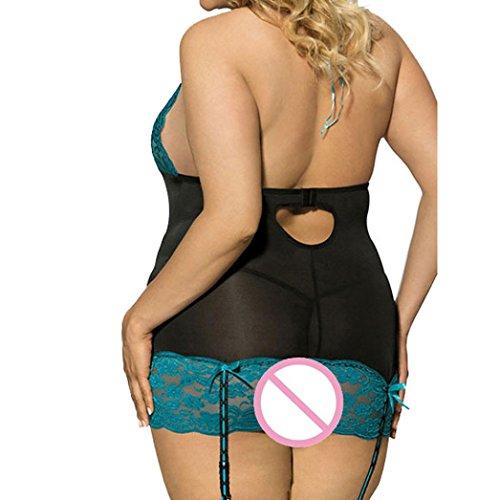 507b48b51a ManxiVoo Fashion Women Sexy Lace Underwear Plus Size Uniforms Bandage  Halter Top Temptation Lingerie