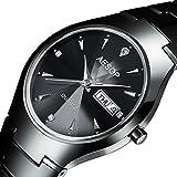 Ceramic Lovers Couple Watch Women Men Date Sapphire Crystal Quartz Wristwatch Ladies Watches (Men)