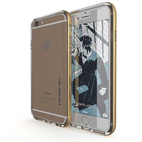 Ghostek® Handyhülle Apple iPhone 6 iPhone 6S - Cloak gold Faceplate [+Schutzfolie+Alurahmen] Case Tasche Harcover für Smartphone Bumper Schutz Etui Schale