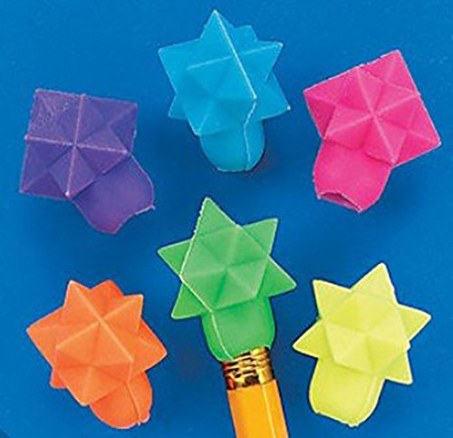 Geometric Star Eraser Top (1-Pack of 144) by Fun Express (Image #2)