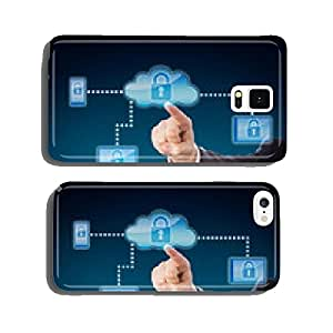 Cloud Computing Security Metaphor In Blue cell phone cover case Samsung S6
