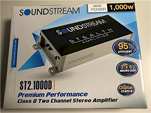 Soundstream ST2.1000D Stealth Series 1000W Class D 2 Channel Amplifier by Soundstream (Image #1)