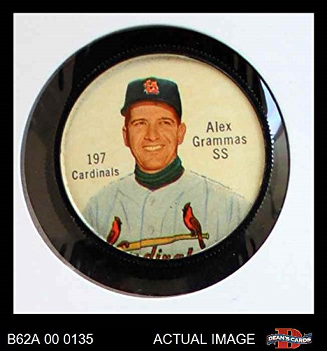 Louis St Coin (1962 Salada Coins # 197 Alex Grammas St. Louis Cardinals (Baseball Card) Dean's Cards 6 - EX/MT Cardinals)