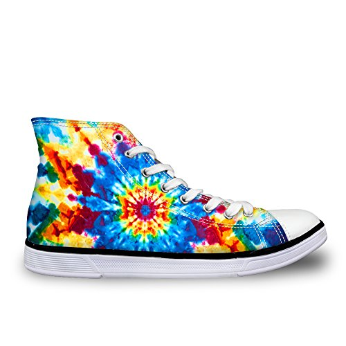 Shoes Sneaker color Top High Showudesigns Spring Women 1 Flower colorful Canvas Walking BvqzRY