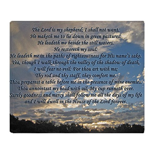 Psalm Throw - CafePress Beautiful Psalm 23 Soft Fleece Throw Blanket, 50