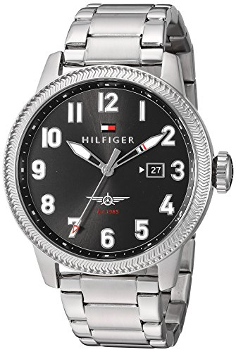 Tommy Hilfiger Men's 'JASPER' Quartz Stainless Steel Casual Watch, Color:Silver-Toned (Model: 1791312)