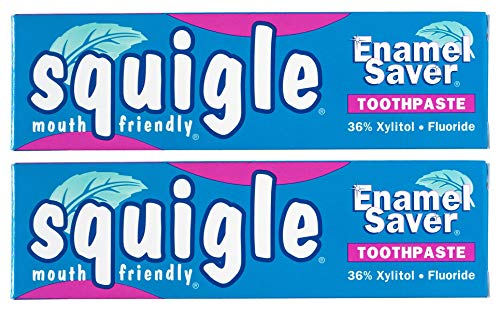 Squigle Enamel Saver Toothpaste (Helps Prevent Canker Sores, Perioral Dermatitis, Bad Breath, Chapped Lips) - Sulfate Toothpaste Lauryl Sodium Free