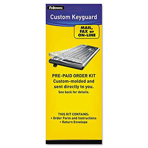 Fellowes 99680 Keyboard Cover Kit, Tear/Abrasion Resistant, Antimicrobial - Fellowes Computer Dust Cover