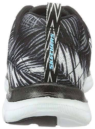 Skechers (SKEES) - Flex Appeal 2.0-Tropical Bree, Scarpa Tecnica da donna, nero (bkw), 37