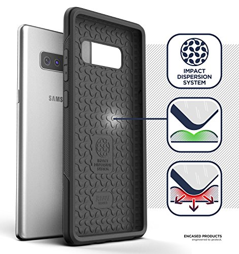 Galaxy Note 8 Rugged Belt Case, Encased [Rebel Series] Impact Armor w/ Holster Clip for Samsung Galaxy Note 8 [Military Grade Protection]