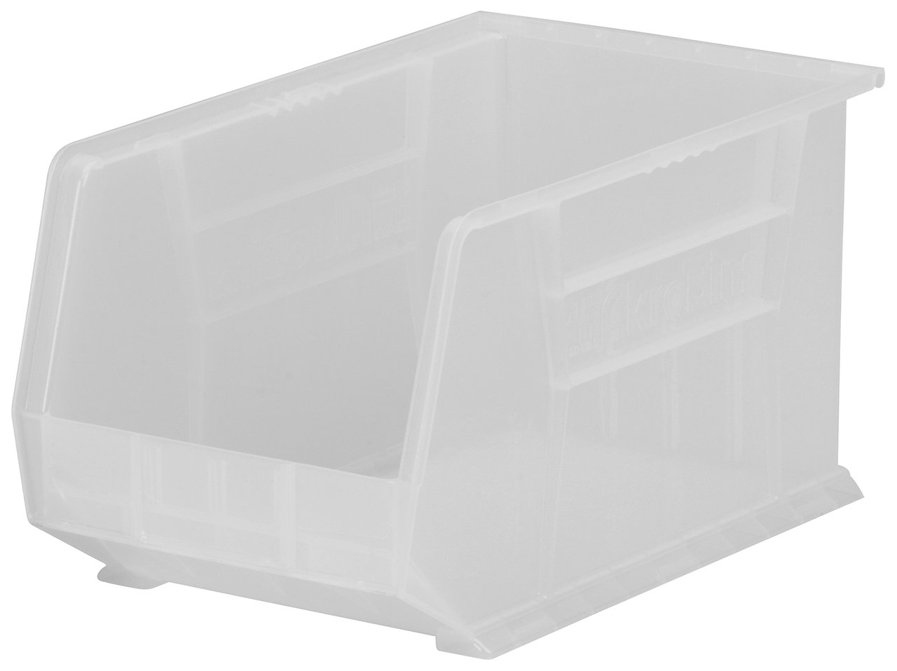 Akro-Mils 30260 Plastic Storage Stacking AkroBin, 18-Inch by 11-Inch by 10-Inch, Clear, Case of 6