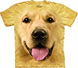 The Mountain Big Face Golden Ch Child T-Shirt, Yellow, Large