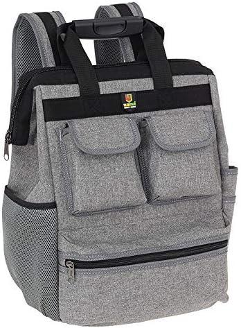 道具袋 プロフェッショナルパワーツールバッグ、マルチポケット多機能機能テクニシャンバッグバックパックに最適ハンドツールを運ぶための ツール収納袋 (色 : グレー, Size : One size)