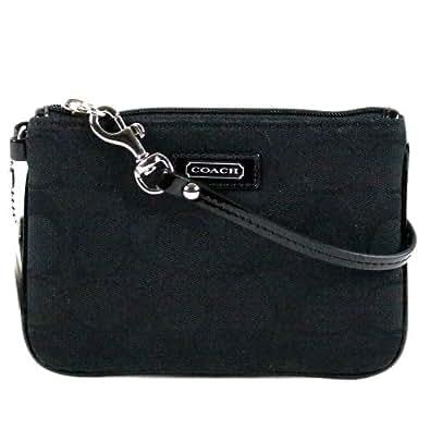 Amazon.com: Coach Parker Signature Wristlet Wallet Case