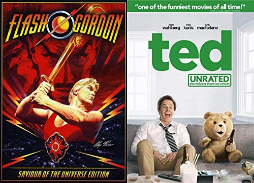 The Unbelievable Sam J Jones As Flash Gordon: TED (Unrated) & Flash Gordon (Savior of the Universe Edition) 2 DVD Bundle Double Feature]()
