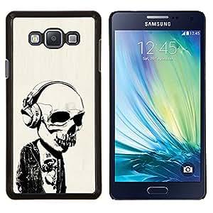 """Be-Star Único Patrón Plástico Duro Fundas Cover Cubre Hard Case Cover Para Samsung Galaxy A7 / SM-A700 ( Auriculares Street Style Skull Skeleton"""" )"""
