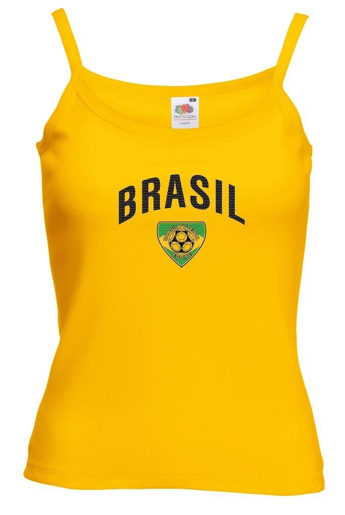 Fruit of the Loom Brasilien Damen T-Shirt Team Lady Fit Strap