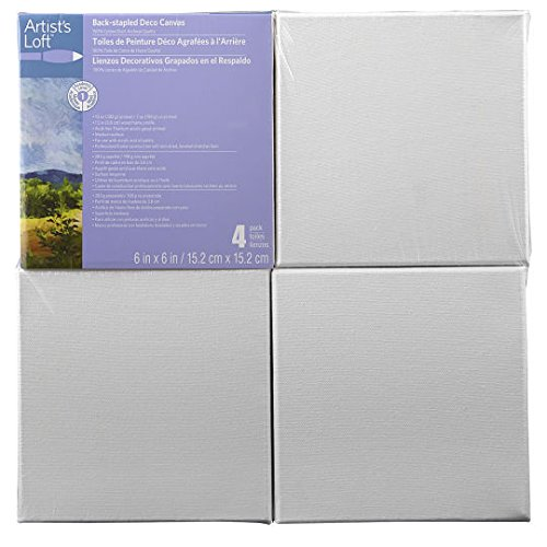 Artists Loft Back Stapled Deco Canvas Pack 6 x 6
