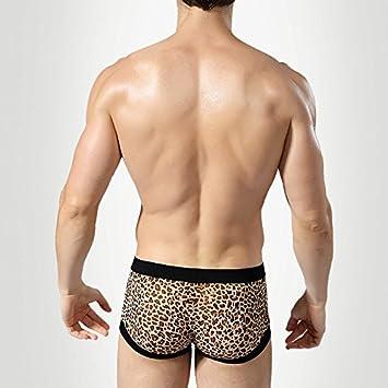 Ropa Interior de Encaje Transparente Boxer para Hombres Ropa Interior de Hombre Empty Sex Boxer MenS