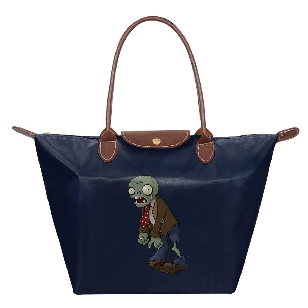 Zombies Waterproof Leather Folded Messenger Nylon Bag Travel Tote Hopping Folding School Handbags Plants Vs