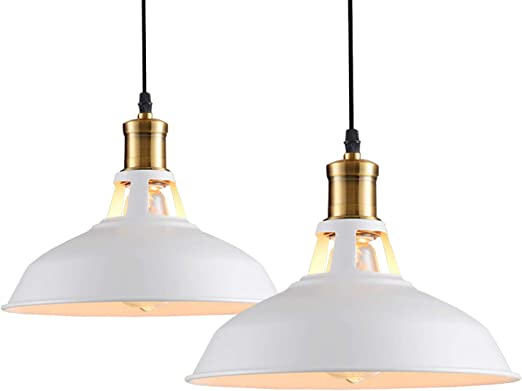 Idegu Lot De 2 Suspension Luminaire Industrielle Retro Lustre
