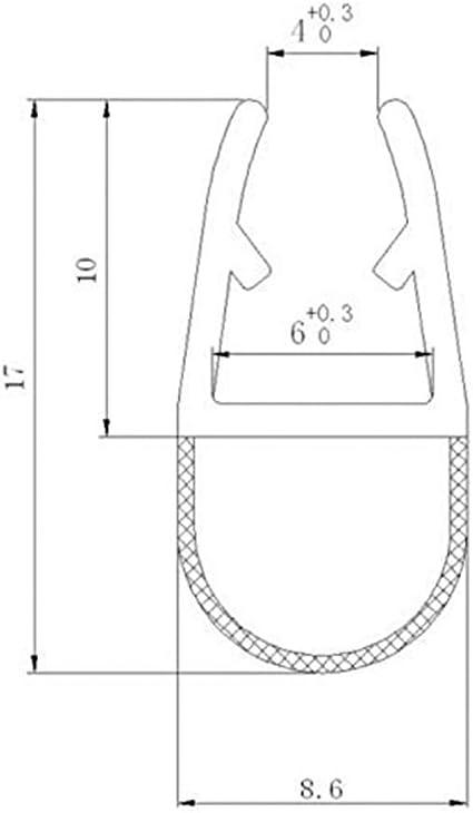 Home Standard® - Sello para mampara de Ducha (Grosor de Cristal de ...