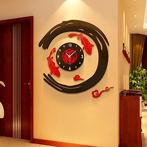 Creative clock clock watch quiet bedroom living room acrylic Chinese clock quartz clock big Chinese wind