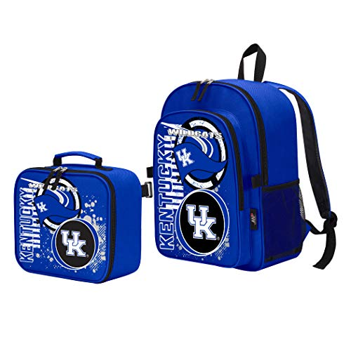 (The Northwest Company Officially Licensed NCAA Kentucky Wildcats Accelerator Backpack & Lunch Kit Set, Blue, 16