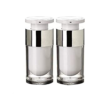 e9de59694bbd Amazon.com: 2PCS White Empty Refillable Upscale Airless Acrylic ...