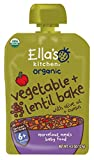 Ella's Kitchen Organic 6+ Months Baby Food, Vegetable Bake with Lentils, 4.5 oz. Pouch (Pack of 6)
