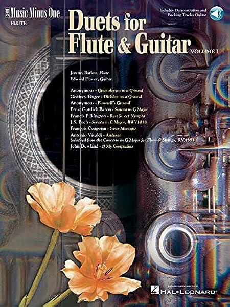 2 Book /& 3 CDs Music Minus One Flute: Duets for FLute /& Guitar Vol