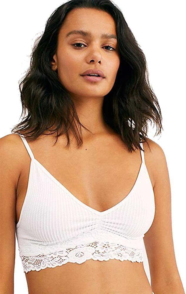 Free People Stevie Lace Trim Bralette White XS//S