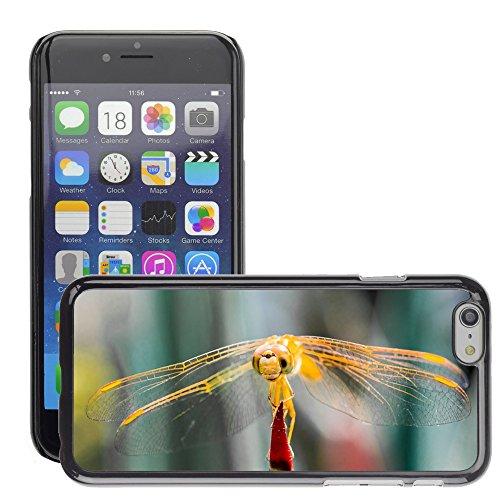 """Just Phone Cases Hard plastica indietro Case Custodie Cover pelle protettiva Per // M00129197 Libellule Insecte animale Fermer Wing // Apple iPhone 6 PLUS 5.5"""""""