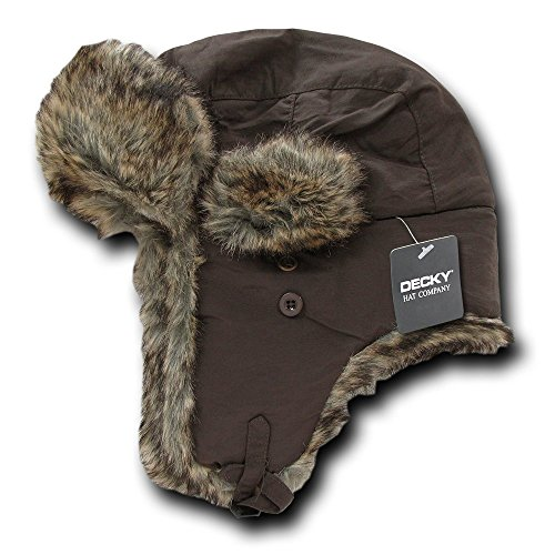 DECKY Aviator Hats, Brown, Large/X-Large -