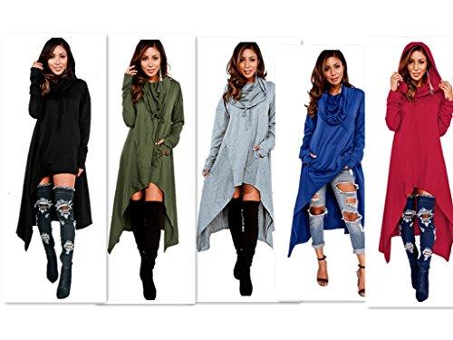 Xuan2Xuan3 Womens Kangaroo Pockets Loose Hoodies Sweatshirts Outerwear Coat Dress