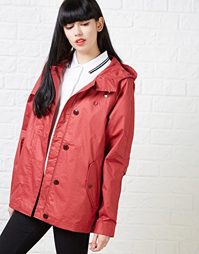 Fred Perry Woman's Cropped Summer Parka Dark Hibiscus 4US by Fred Perry