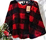 Well Dressed Home Luxury Plush Buffalo Checker Plaid Lodge Red & Black Faux Fur 52'' Christmas Tree Skirt