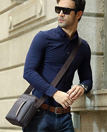 Hommes Crossbody Loisirs Fashion Haute Bags Besace Sac Marron D'épaule Qualité Tablette Canevas Shoulder Business Grand Layxi 8zTSax
