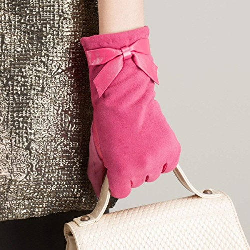 Warm Fashion Super Plumred Mittens Suede Classic Simple Gloves Accogliente Short Womens 0xA4qS
