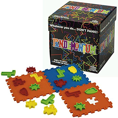 Pandemonium - Race Your Opponent To Recreate The Images. Work fast and don't panic! Multicolored 2 player or team family game that's fun for everyone. Uses hand/eye coordination and spatial awareness. by Happy Puzzle Company