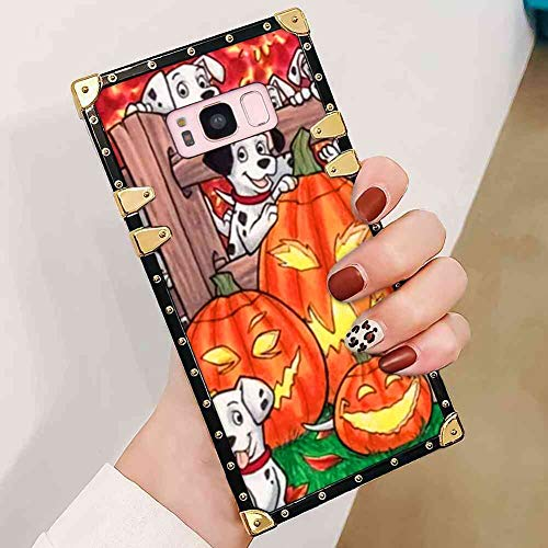 Happy Halloween Square Edge Case Cover Fits for Samsung Galaxy S8 (2017) [5.8 Inch]