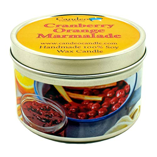 Cranberry Orange Marmalade, Fall Scented Soy Candle Tin (6 oz), Autumn ()