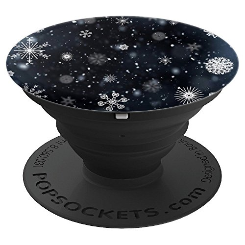 Stocking Season (Snowflakes Snowing Winter Season Stocking Stuffer Gift - PopSockets Grip and Stand for Phones and Tablets)