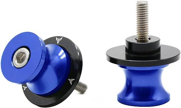 2tlg M6 1 5 Alu Schwingenschutz Schwingenadapter Ständer Bobbins Spool Racingadapter Ständeraufnahme 6mm Für Yamaha Mt01 Mt 01 Fz 01 Mt03 Mt 03 Mt 125 Mt09 Mt 09 Mt10 Mt 10 Blau Auto