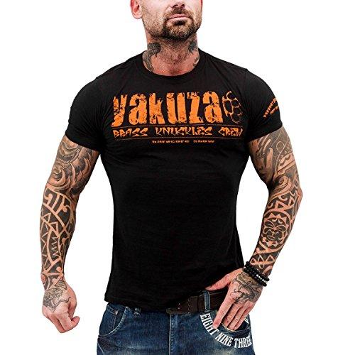 Yakuza Herren T-Shirt Brass Knuckles Crew TSB 503 schwarz