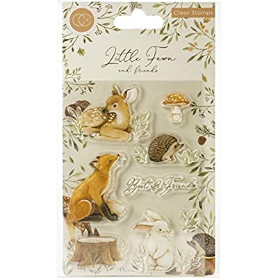 CRAFT CONSORTIUM LTD CCSTMP008 Fawns Stamps FRNDS, us:one Size, Little Fawn & Friends, Best Friends: Arts, Crafts & Sewing